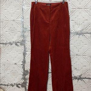 Express high waisted burnt orange corduroy pants